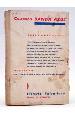 Contracubierta de COLECCIÓN BANDA AZUL 9. MI TRIUNFO ERES TÚ (José Bendala) Valenciana Circa 1930