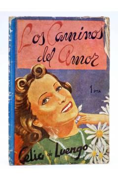 Cubierta de COLECCIÓN BANDA AZUL 10. LOS CAMINOS DEL AMOR (Celia De Luengo) Valenciana Circa 1930
