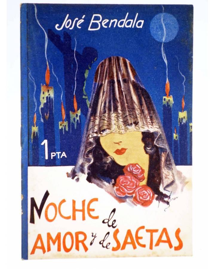 Cubierta de COLECCIÓN BANDA AZUL 11. NOCHE DE AMOR Y DE SAETAS (José Bendala) Valenciana Circa 1930