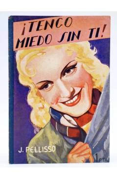 Cubierta de COLECCIÓN BANDA AZUL 14. ¡TENGO MIEDO SIN TI (J. Pellisó) Valenciana Circa 1930