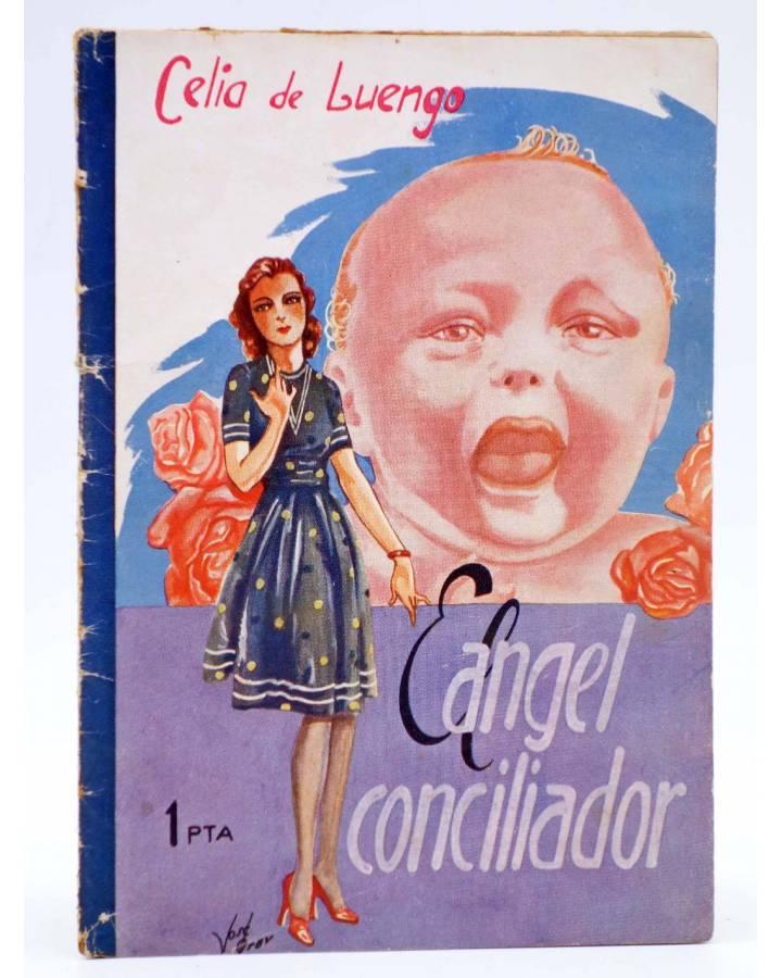 Cubierta de COLECCIÓN BANDA AZUL 18. EL ÁNGEL CONCILIADOR (Celia De Luengo) Valenciana Circa 1930