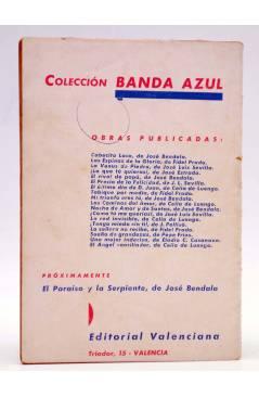 Contracubierta de COLECCIÓN BANDA AZUL 18. EL ÁNGEL CONCILIADOR (Celia De Luengo) Valenciana Circa 1930