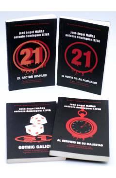 Cubierta de EL HOMBRE DE LOS VEINTIÚN DEDOS 1 A 4. COMPLETA (Mañas / Leiva) Dolmen 2007