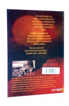 Contracubierta de UNA GOTA DE SANGRE EN EL MARTINI POR FAVOR (J. Ignacio Gómez Pintado) Animal Pulp 2015