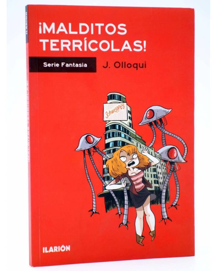 Cubierta de SERIE FANTASÍA. ¡MALDITOS TERRÍCOLAS! (J. Olloqui) Ilarión 2013