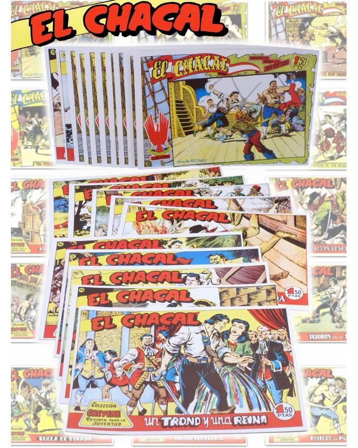 Cubierta de EL CHACAL 1 A 20. COMPLETA. MARCO 1949 (Jean Martínez) Comic MAM Circa 1980. FACSIMIL