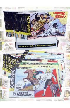 Cubierta de HACHA Y ESPADA 1 A 58. COMPLETA. MAGA 1962 (Armando) Comic MAM Circa 1980. FACSIMIL