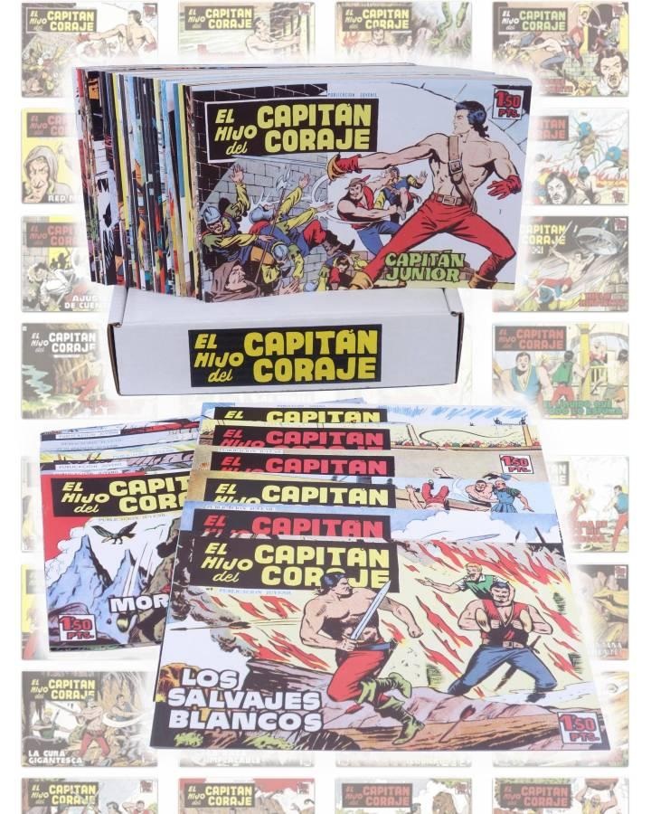 Cubierta de EL HIJO DEL CAPITÁN CORAJE 1 A 52. COMPLETA. TORAY 1959 (Sesén / Giralt) Comic MAM Circa 1980. FACSIMIL