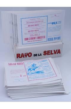 Contracubierta de RAYO DE LA SELVA 1 A 83. COMPLETA. MAGA 1960 (Guerrerro / Segrelles) Comic MAM Circa 1980. FACSIMIL