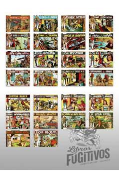 Contracubierta de ROY CLARK 1 A 26. COMPLETA. VALENCIANA 1959 (Vvaa) Comic MAM Circa 1980. FACSIMIL