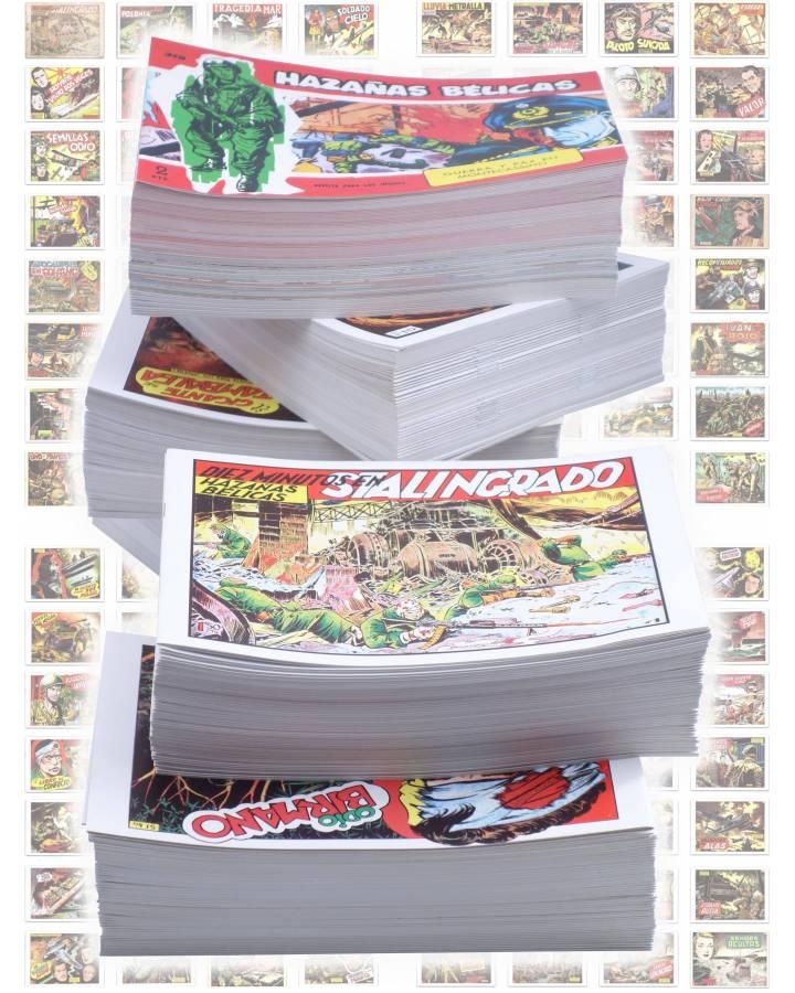 Cubierta de HAZAÑAS BÉLICAS 1 A 319. COMPLETA. TORAY 1950 (Vvaa) Comic MAM Circa 1980. REEDICIÓN FACSIMIL