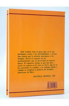 Contracubierta de EL TALÓN DE HIERRO (Jack London) Endymion 1997
