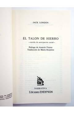 Muestra 1 de EL TALÓN DE HIERRO (Jack London) Endymion 1997