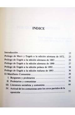 Muestra 2 de EL MANIFIESTO COMUNISTA (Karl Marx / Engels) Endymion 1987