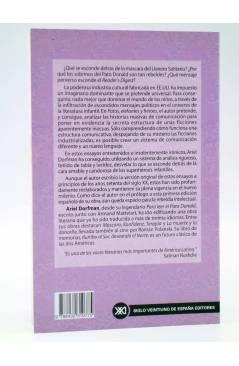 Contracubierta de PATOS ELEFANTES Y HÉROES. LA INFANCIA COMO SUBDESARROLLO (Ariel Dorfman) Siglo XXI 2002