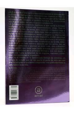 Contracubierta de LA MÚSICA DE LA VIDA. MÁS ALLÁ DEL GENOMA HUMANO (Denis Noble) Akal 2008