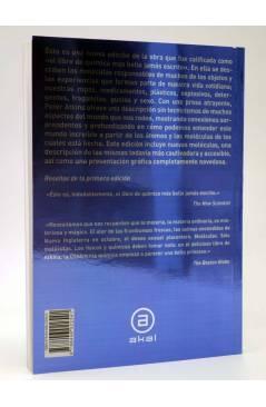 Contracubierta de LAS MOLÉCULAS DE ATKINS (Peter Atkins) Akal 2007