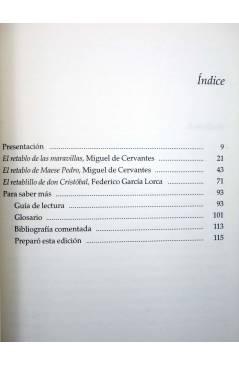 Muestra 1 de CASTALIA PRIMA 6. DOS RETABLOS Y UN RETABLILLO (Cervantes / García Lorca) Castalia 1999