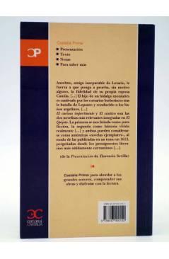 Contracubierta de CASTALIA PRIMA 18. EL CURIOSO IMPERTINENTE / EL CAUTIVO (Miguel De Cervantes) Castalia 2002