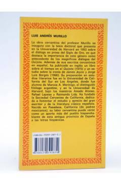 Contracubierta de CLÁSICOS CASTALIA 79. DON QUIJOTE T.III (A. Murillo) Castalia 1990. BIBLIOGRAFÍA FUNDAMENTAL