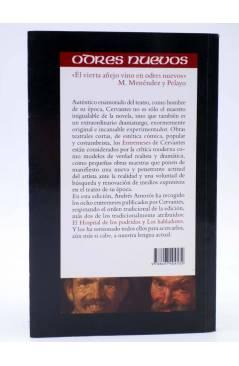 Contracubierta de ENTREMESES (Miguel De Cervantes) Castalia 2012
