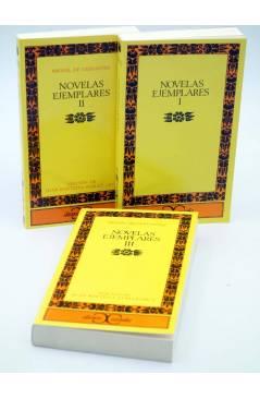 Cubierta de NOVELAS EJEMPLARES I II II. OBRA COMPLETA (Miguel De Cervantes) Castalia 1992