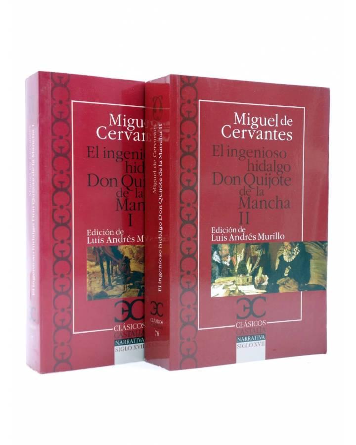 Cubierta de CASTALIA CLÁSICOS 77 78. DON QUIJOTE DE LA MANCHA. 2 VOLS (Miguel De Cervantes) Castalia 2010
