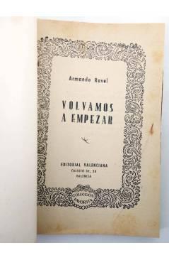 Muestra 1 de COLECCIÓN FAVORITA 51. VOLVAMOS A EMPEZAR (Armando Ravel) Valenciana Circa 1960