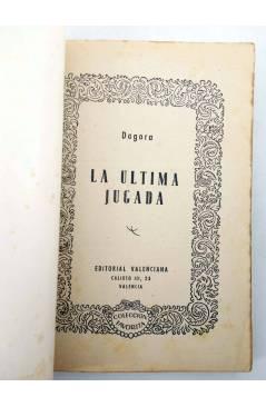 Muestra 1 de COLECCIÓN FAVORITA 52. LA ÚLTIMA JUGADA (Dagora) Valenciana Circa 1960