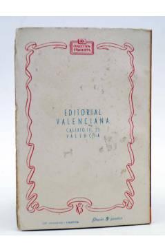 Contracubierta de COLECCIÓN FAVORITA 53. EL REY DE LOS DIAMANTES (Ana Mary Redón) Valenciana Circa 1960