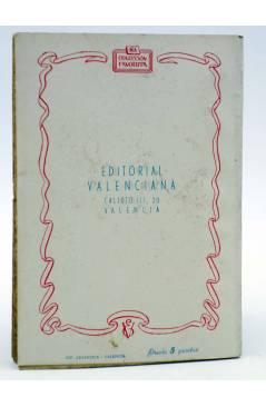 Contracubierta de COLECCIÓN FAVORITA 54. ¡EL PARAÍSO ERES TÚ! (Mª Pilar De Molina) Valenciana Circa 1960