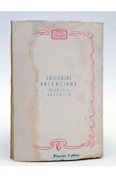 Contracubierta de COLECCIÓN FAVORITA 56. LA INDIANA (Ana Mary Redón) Valenciana Circa 1960