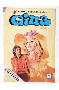 Cubierta de GINA REVISTA JUVENIL FEMENINA 28. POSTER DE BACCHELLI (Vvaa) Bruguera 1978