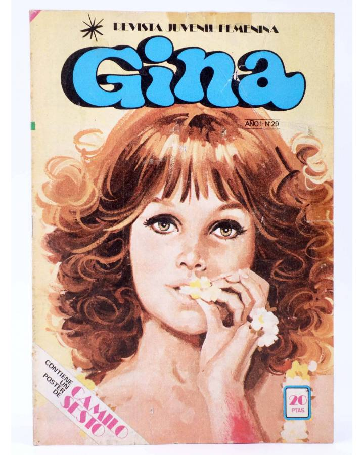 Cubierta de GINA REVISTA JUVENIL FEMENINA 29. POSTER DE CAMILO SESTO (Vvaa) Bruguera 1978