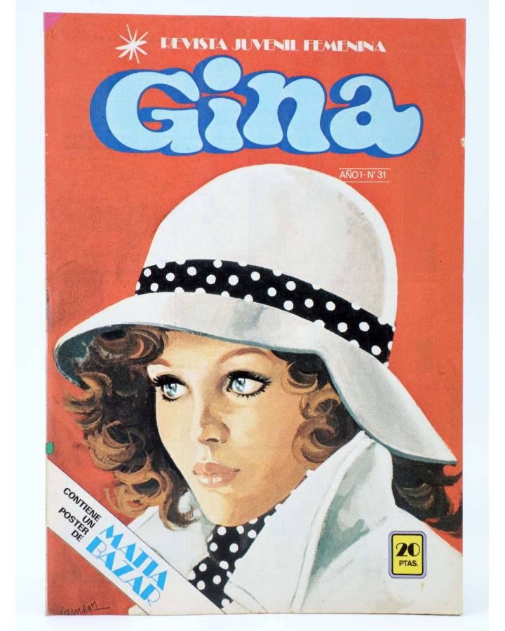Cubierta de GINA REVISTA JUVENIL FEMENINA 31. POSTER DE MATIA BAZAR (Vvaa) Bruguera 1978