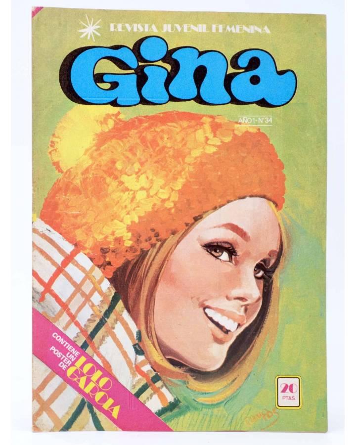 Cubierta de GINA REVISTA JUVENIL FEMENINA 34. POSTER DE LOLO GARCIA (Vvaa) Bruguera 1978
