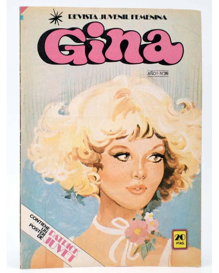 Cubierta de GINA REVISTA JUVENIL FEMENINA 36. POSTER DE PATRICK JUVET (Vvaa) Bruguera 1979