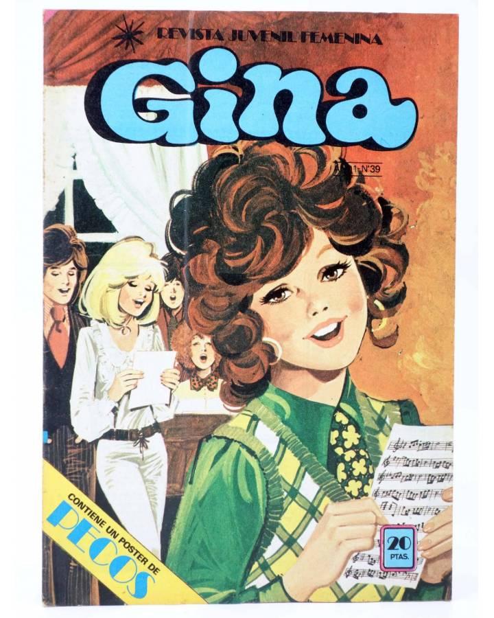 Cubierta de GINA REVISTA JUVENIL FEMENINA 39. POSTER DE PECOS (Vvaa) Bruguera 1979
