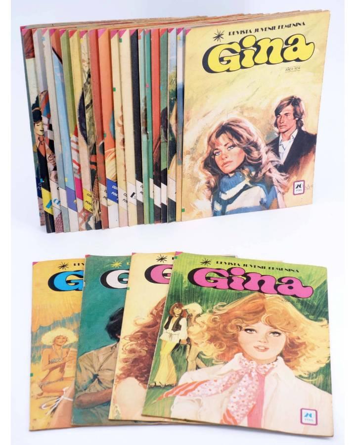 Cubierta de GINA REVISTA JUVENIL FEMENINA. LOTE DE 20 NÚMEROS ENTRE EL 10 Y EL 35 (Vvaa) Bruguera 1979