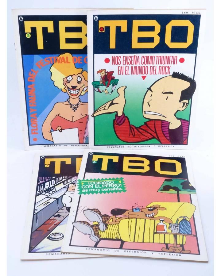 Cubierta de TBO CUARTA ÉPOCA 4 5 6 7. LOTE DE 4 NUMS (Vvaa) Complot 1986