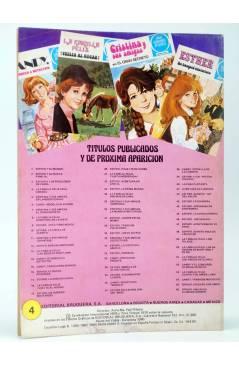 Contracubierta de JOYAS LITERARIAS JUVENILES SERIE AZUL 4. LA FAMILIA FELIZ. EN CANADÁ. Bruguera 1980