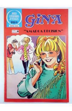 Cubierta de JOYAS LITERARIAS JUVENILES SERIE AZUL 80. GINA. AMARGA DECISIÓN. Bruguera 1982