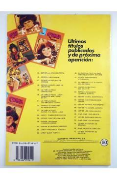 Contracubierta de JOYAS LITERARIAS JUVENILES SERIE AZUL 80. GINA. AMARGA DECISIÓN. Bruguera 1982