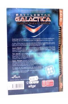 Contracubierta de BATTLESTAR GALACTICA. ECOS DE NUEVA CAPRICA (Salzfass / Delk / Hatsh) Edge 2009