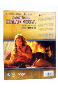 Contracubierta de EL ARTE DE JUEGO DE TRONOS 1. CANCIÓN DE HIELO Y FUEGO (George R.R. Martin) Edge 2011