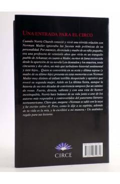 Contracubierta de UNA ENTRADA PARA EL CIRCO. MEMORIAS (Norris Church Mailer) Circe 2011