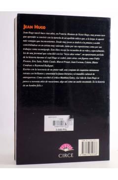 Contracubierta de JEAN HUGO. LOS OJOS DE LA MEMORIA (Jean Hugo) Circe 1994