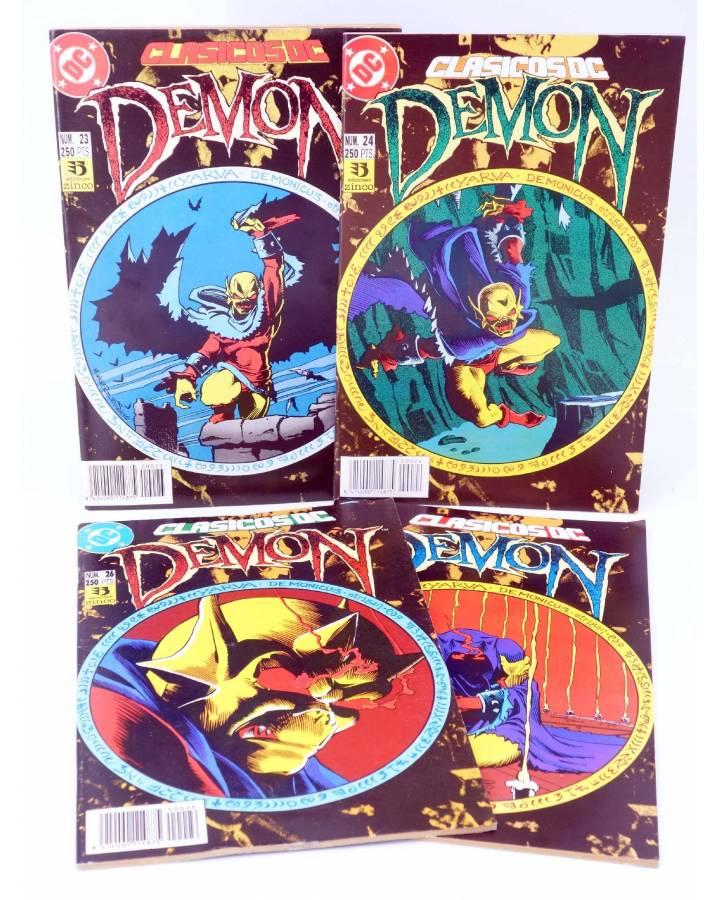 Cubierta de CLASICOS DC 23 24 25 26. DEMON / LA COSA DEL PANTANO (Matt Wagner / Alan Moore) Zinco 1993