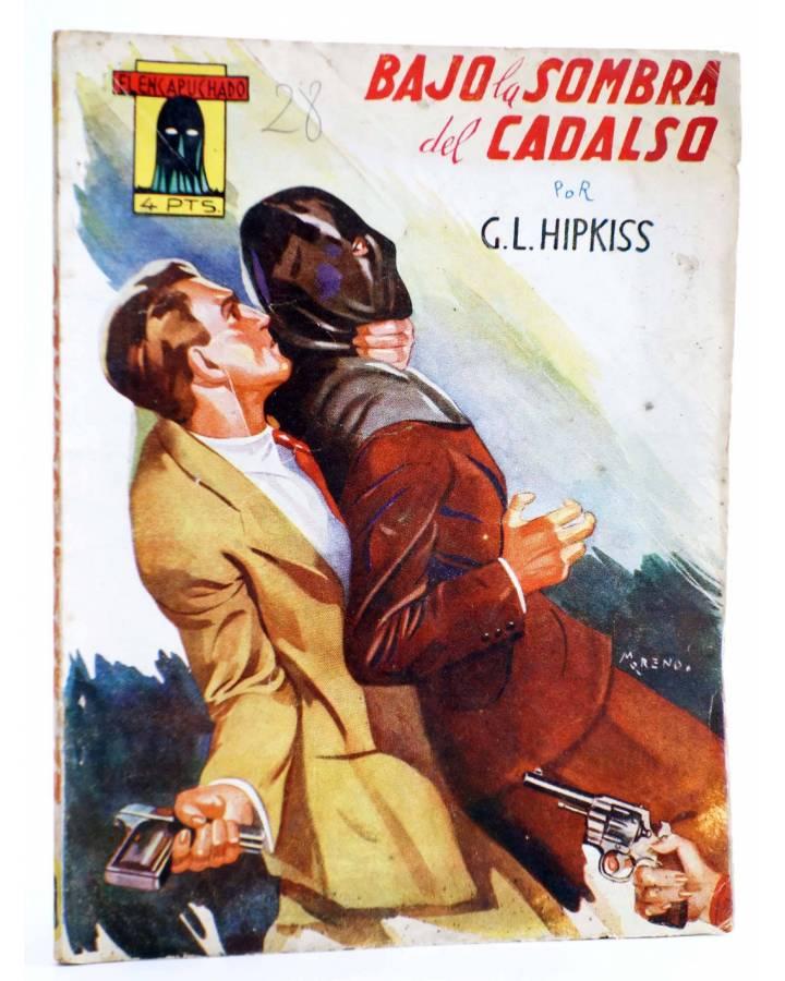 Cubierta de EL ENCAPUCHADO 28. BAJO LA SOMBRA DEL CADALSO (G. L. Hipkiss) Cliper 1947