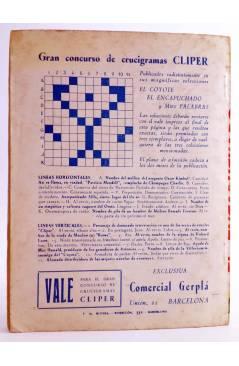 Contracubierta de EL ENCAPUCHADO 28. BAJO LA SOMBRA DEL CADALSO (G. L. Hipkiss) Cliper 1947